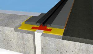 FloorBridge® Fugenprofil CPS 20/50 Duo mit Asphalt