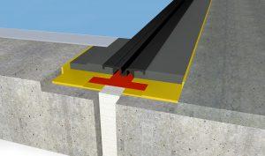 FloorBridge® Fugenprofil CPS 20/50 Duo mit Beton