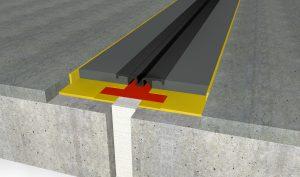 FloorBridge® Fugenprofil CPS 20/50 Mono mit Beton