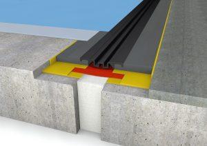 FloorBridge® Fugenprofil CPS 20/80 Duo mit Beton