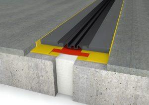 FloorBridge® Fugenprofil CPS 20/80 Mono mit Beton